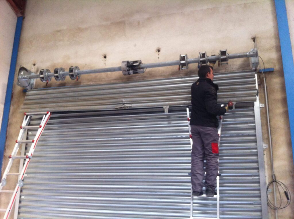 Installation rideau métallique Asnières sur Seines